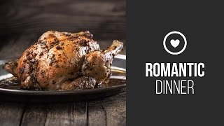 Chicken In Maple Syrup With Balsamic Vinegar And Thyme || Around The World: Winter Romantic Dinner