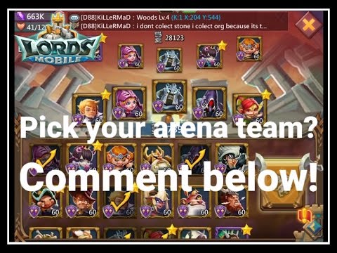 Lords Mobile: Arena Challenge Pick Your Team!