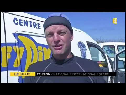 Journal Télévision reunion 1ere Wulfy Diving 16 02 2017