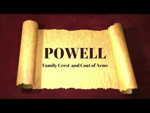 Powell Family Crest And Coat Of Arms Short History And Meaning - Documentary