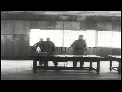 William K. Harrison, Jr. arrives to sign the Korean Armistice Agreement in Panmun...HD Stock Footage