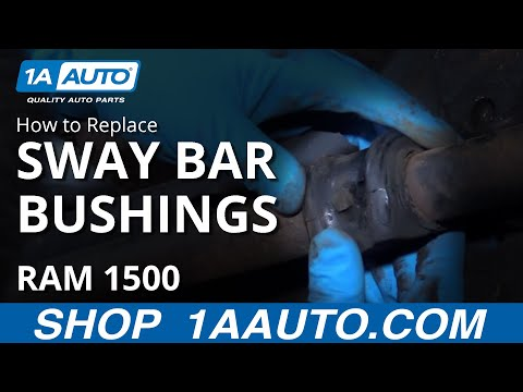 How to Install Replace Front Sway Bar Bushings 2003-08 Dodge Ram 1500 BUY AUTO PARTS AT 1AAUTO.COM