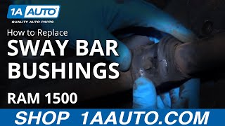 how to install replace front sway bar bushings 2003 08 dodge ram 1500 buy auto parts at 1aauto com