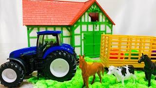 Синий трактор едет на ферму | Развивающие видео для детей | учимся как говорят животные