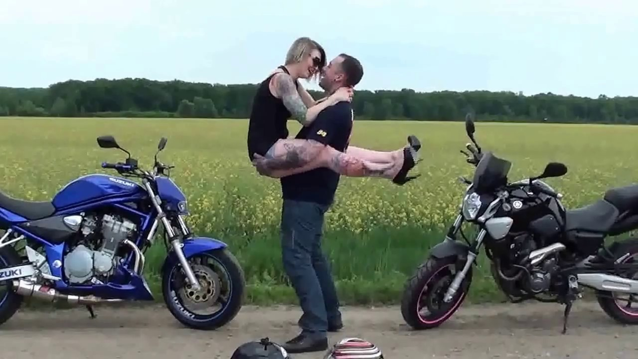 couple motorcycle love photo  Motorcycle love story - YouTube
