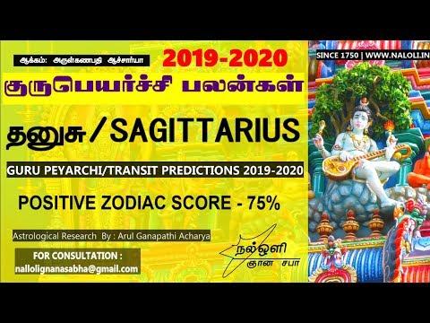 குரு பெயர்ச்சி 2019-2020 தனுசுராசி பலன்கள் - GURU PEYARCHI/TRANSIT 2019 IN TAMIL