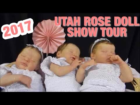 At The 2017 Rose Doll Show in Utah! Lots of Reborn and Silicone Babies!!