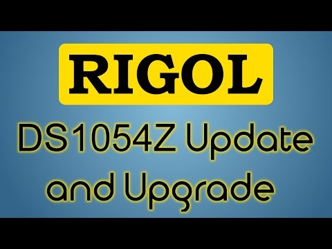 How to update and unlock/hack the Rigol DS1054Z (in under 2 minutes)