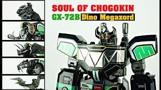 Review SOUL OF CHOGOKIN GX-72B Dino Megazord Black version ( English sub )