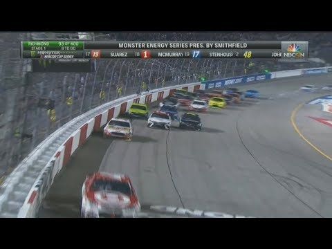 Monster Energy NASCAR Cup Series 2017. Richmond Raceway (2). Stage 1 Last Laps