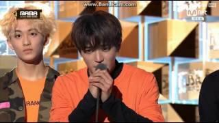 161202 NCT Best new Male Artist speech (TY Cried)