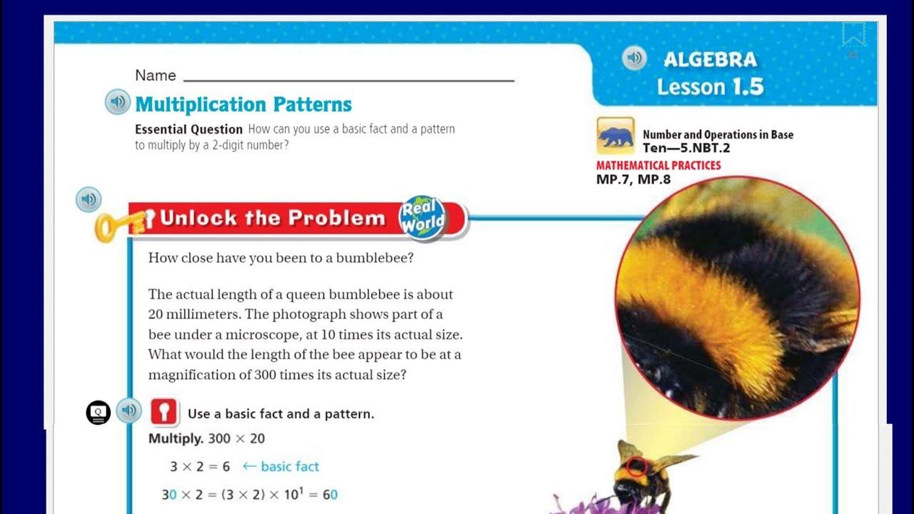 go math 5th grade lesson 1 5 multiplication patterns youtube. Black Bedroom Furniture Sets. Home Design Ideas