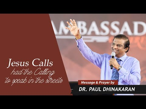 Jesus Calls Had The Calling To Speak In The Streets (English - Hindi) | Dr. Paul Dhinakaran