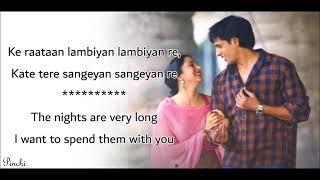 Raataan Lambiyan English Translation | Shershaah | Sidharth, Kiara | Tanishk |Jubin Nautiyal |Asees
