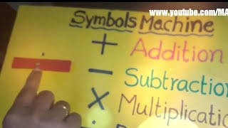 Maths working model , mathematical symbols
