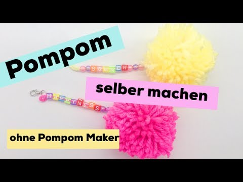 pompons selber machen s e anh nger als diy geschenke youtube. Black Bedroom Furniture Sets. Home Design Ideas