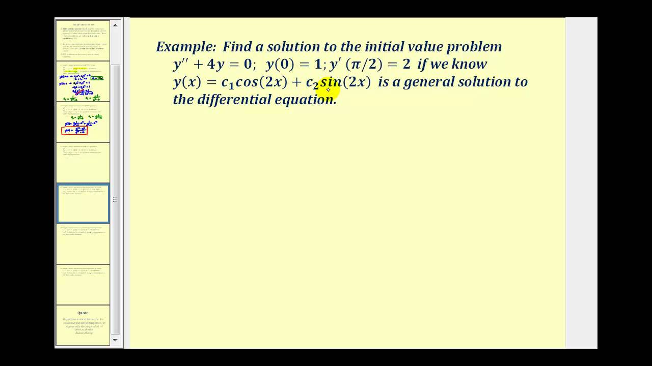 Intro to Boundary Value Problems