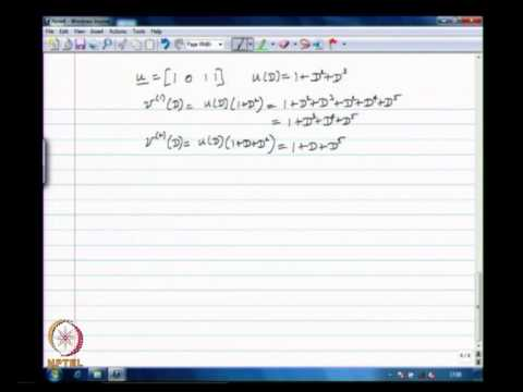 Mod-01 Lec-30 Introduction to Convolutional Codes