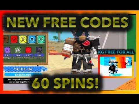 [054]UPDATE NEW FREE CODES! +60 FREE SPINS!|ALL KG FREE FOR ALL!|ROBLOX  Naruto RPG- Beyond |