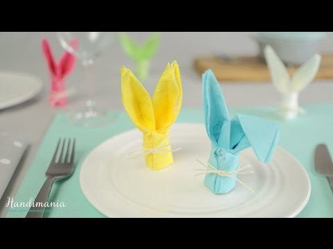 How to Fold a Bunny Napkin - Easter Craft Ideas #1