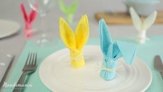 Cách để gấp một chiếc khăn ăn - thỏ xinh