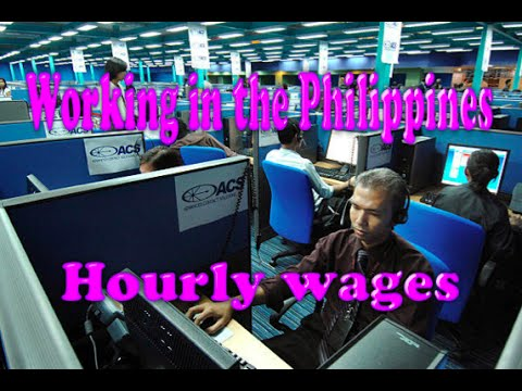 Foreigner working in the Philippines, Hourly Wages
