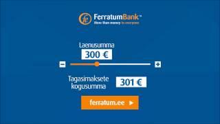 Ferratum.ee - Laenad 500€, tagasimakse 501€(https://www.ferratum.ee/laen 1. Täida taotlus kiirelt ja mugavalt 2. Identifitseeri ennast ID-kaardiga veebilehel või lähimas postkontoris 3. Raha laekub peale ..., 2016-11-07T00:05:38.000Z)