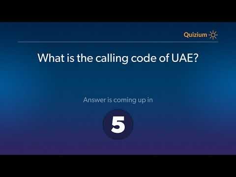 What is the calling code of UAE?   United Arab Emirates Quiz