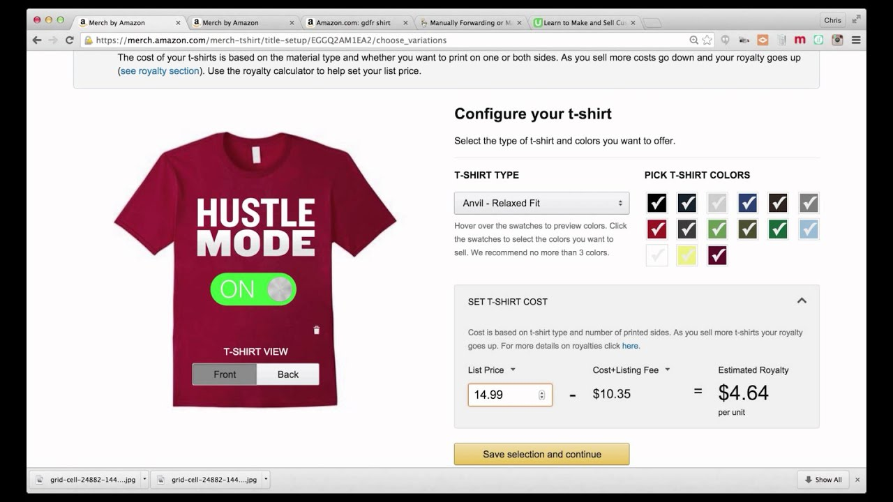 Detailed Walkthrough of Merch By Amazon Shirt Design and