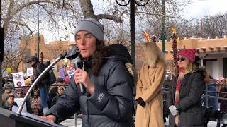 2018 Santa Fe New Mexico Women's March -  Wild Earth Guardians Madeleine Carey
