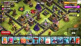 Clash of clans   PEKKA RAID 300 level 5 spaces ru