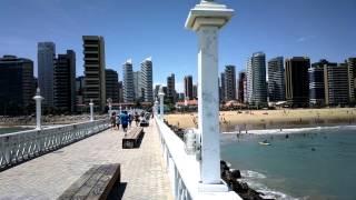 Praia de Iracema e Beira Mar em Fortaleza Ceará Brasil