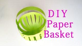 Kağıt Sepeti Yapmak nasıl - Basit DİY Kağıt El Sanatları EasyPaperCrafts Fikirler #