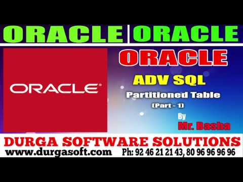 Oracle Tutorial || Oracle|Adv Sql | Partitioned Table Part - 1 by basha
