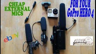 4 Cheap Ebay external mics for the GoPro Hero 4 (audio test)
