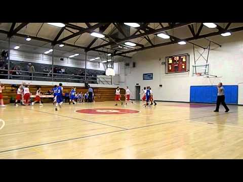 Prescott Mile High Middle School Basketball - 6th Grade Joey Christopherson's BUZZER HALF COURT SHOT