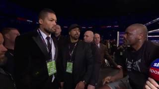 David Haye - Dereck Chisora and Joe Joyce confrontation on Sky Sports