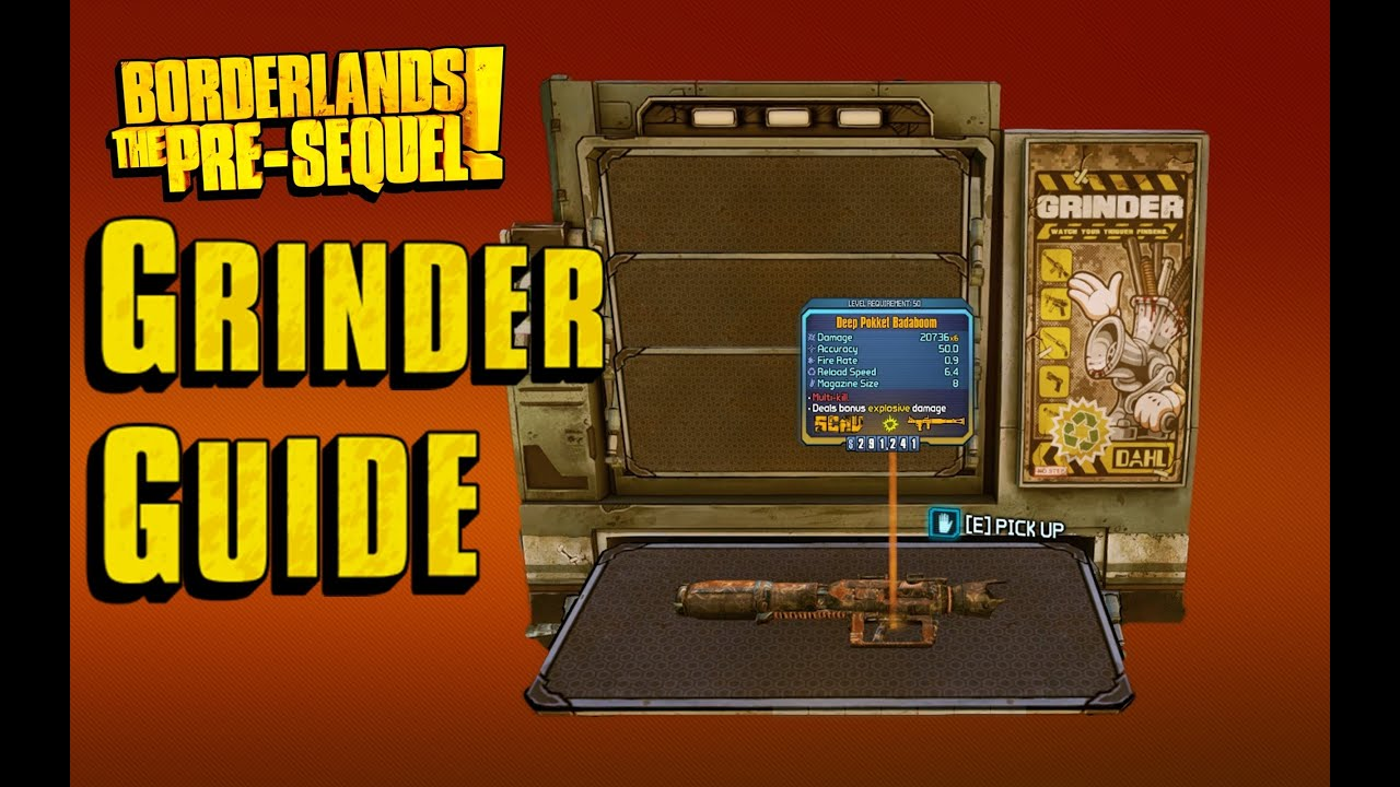 borderlands pre sequel how to get grinder