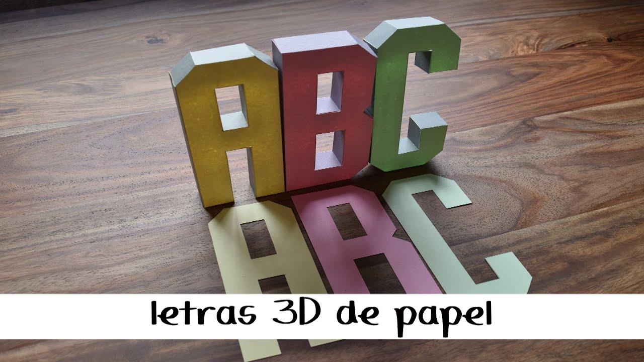 Como hacer letras 3d de papel youtube - Como hacer jarrones de papel ...
