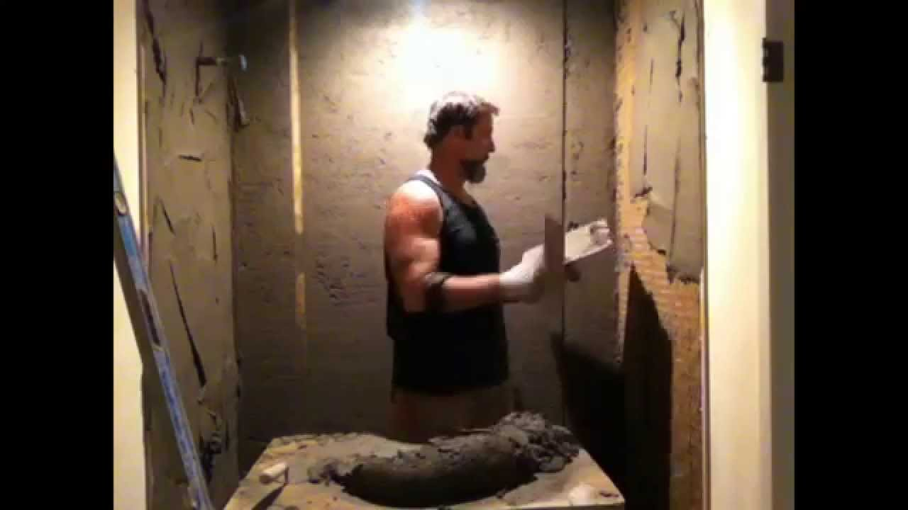 How To Use Fat Mud Make Wall Flat Plum For Easytile Installation Bydave Blake Master Tile Sett Youtube
