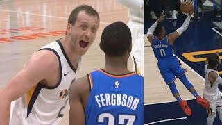 Jazz Hold Russell Westbrook to 6 Points! 7 Turnovers! Thunder vs Jazz 2017-18 Season