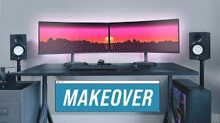 Modern IKEA Gaming Desk Setup MAKEOVER (2020)