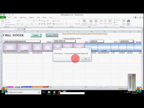 How to create JSON file for Bulk E Way Bill in excel