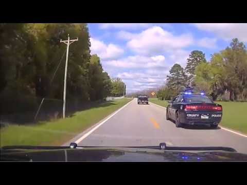 High Speed Police Chase Dashcam HD