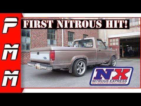 Hitting Nitrous For The First Time! 100 Shot 302 V8 Swapped Ranger! Nitrous Express Nitrous Kit