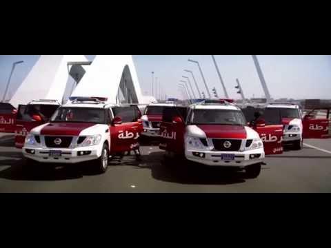 Epic Police Car Chase in Abu Dhabi - [Arabic]