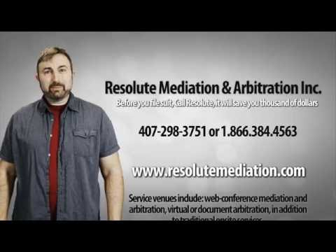 Resolute Mediation & Arbitration Commercial, Divorce Mediation and Arbitration Orlando Florida