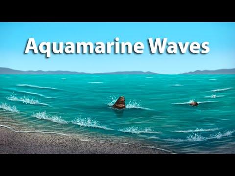 Digital Art Landscape Tutorial: Aquamarine Waves