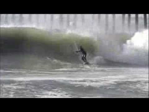 Cayucos Pier Going Off