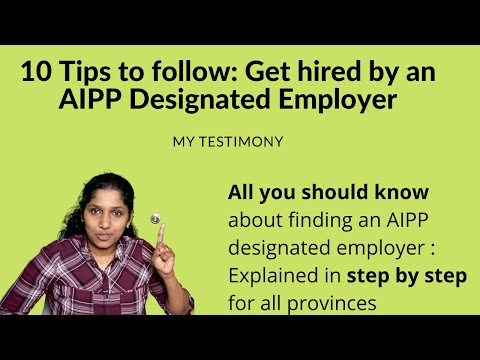 How To Find AIPP Designated Employer For Immediate Canada Work Permit-Get Canada Permanent Residency